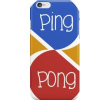 Ping Pong iPhone Case/Skin