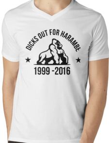 Dick Out For Harambe 1999 - 2016 Mens V-Neck T-Shirt