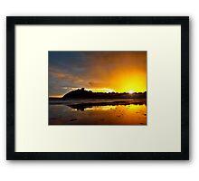 Criccieth Castle Sunset Framed Print