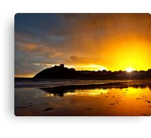 Criccieth Castle Sunset Canvas Print