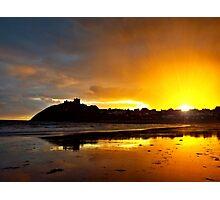 Criccieth Castle Sunset Photographic Print