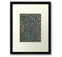 Group Of Black Beans Framed Print