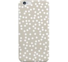Cute Beige and White Polka Dots iPhone Case/Skin