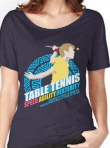 Speed,Agility,Dexterity - Table Tennis Women's Relaxed Fit T-Shirt