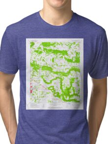 USGS TOPO Map Arkansas AR Russellville East 259543 1962 24000 Tri-blend T-Shirt