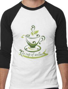 Tea Cup Of Wellness Men's Baseball ¾ T-Shirt