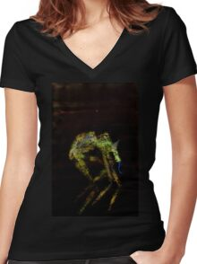 WDV - 724 - Scenting Women's Fitted V-Neck T-Shirt