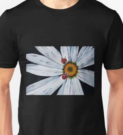 Ladybug on flower Unisex T-Shirt