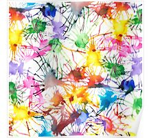 Watercolor Splashes Poster