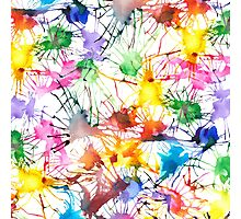 Watercolor Splashes Photographic Print