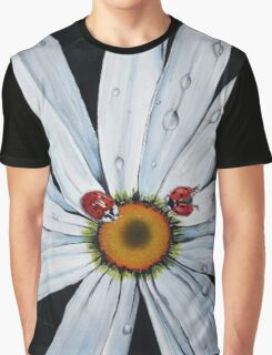 Ladybug on flower Graphic T-Shirt