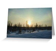On a Winter Afternoon Greeting Card