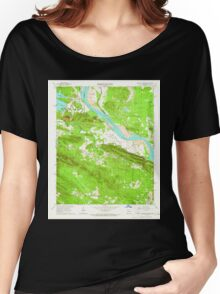 USGS TOPO Map Arkansas AR Pinnacle Mountain 259411 1961 24000 Women's Relaxed Fit T-Shirt