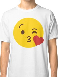Cute Emoticon // Cute Sending Kisses Whatsup Emojoy Classic T-Shirt