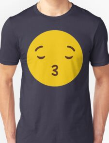 Cute Emoticon // Cute Sending Kisses Whatsup Emojoy Unisex T-Shirt