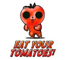 Eat Your Tomatoes Photographic Print