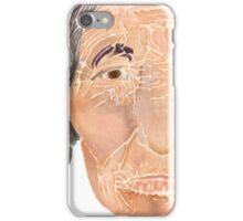 Face of a Nomad - White iPhone Case/Skin