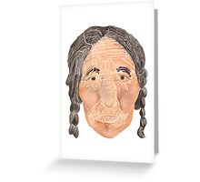 Face of a Nomad - White Greeting Card