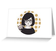 Kitty Girl IIII Greeting Card