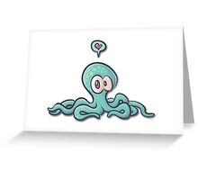 Cute Octopus Wants Some Love Greeting Card