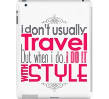 Travel With Style iPad Case/Skin