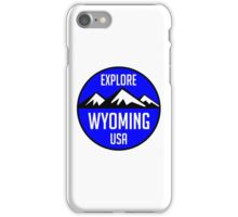 EXPLORE WYOMING USA MOUNTAINS BIKING HIKING CAMPING CLIMBING YELLOWSTONE JACKSON HOLE iPhone Case/Skin