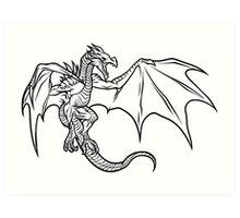 Skyrim Dragon Art Print