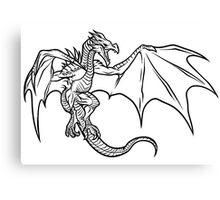 Skyrim Dragon Canvas Print