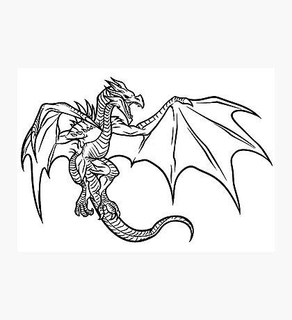 Skyrim Dragon Photographic Print
