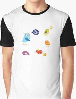 Colored twitter birds set. Twitter birds set in different colors Graphic T-Shirt