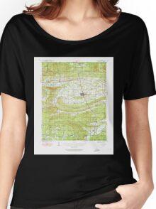 USGS TOPO Map Arkansas AR Waldron 260346 1939 62500 Women's Relaxed Fit T-Shirt