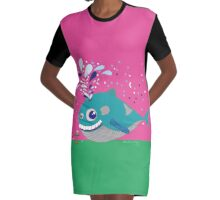 Hugo the Whale Graphic T-Shirt Dress