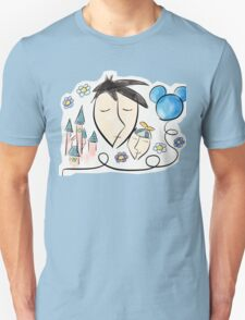 Father and son dreaming about Disneyland ! Unisex T-Shirt