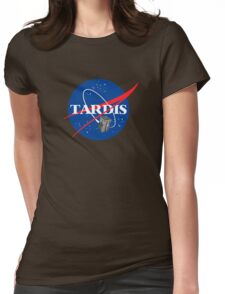 Tardis NASA, Parody Dr Dalek Who Doctor Space Time BBC Tenth Police Box Womens Fitted T-Shirt