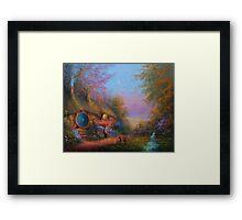 Starlit Shire Framed Print