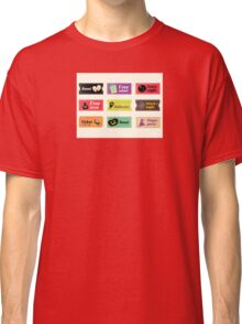 Retro halloween vector tickets. Going to Halloween party? Booo! Use my tickets! Classic T-Shirt