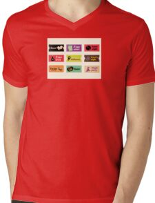 Retro halloween vector tickets. Going to Halloween party? Booo! Use my tickets! Mens V-Neck T-Shirt