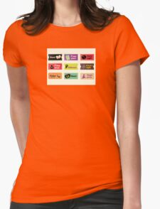 Retro halloween vector tickets. Going to Halloween party? Booo! Use my tickets! Womens Fitted T-Shirt