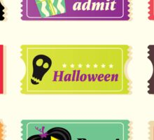 Retro halloween vector tickets. Going to Halloween party? Booo! Use my tickets! Sticker
