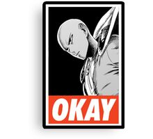 one_man_punch_okay_face_challenge Canvas Print