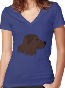 Chocolate Labrador Women's Fitted V-Neck T-Shirt