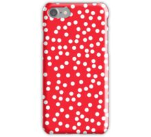 Cute Red and White Polka Dots iPhone Case/Skin