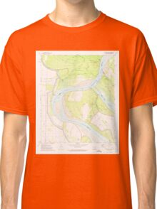 USGS TOPO Map Arkansas AR Catfish Point 258143 1972 24000 Classic T-Shirt
