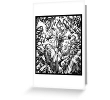 one_man_punch_explosion Greeting Card