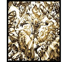 one_man_punch_okay_face_explosion_sepia Photographic Print