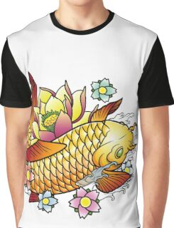 Koi Fish with Lotus Graphic T-Shirt