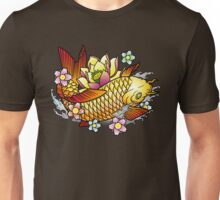 Koi Fish with Lotus Unisex T-Shirt