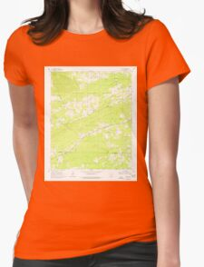 USGS TOPO Map Arkansas AR Pearcy 259383 1966 24000 Womens Fitted T-Shirt