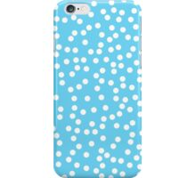 Cute Blue and White Polka Dots iPhone Case/Skin
