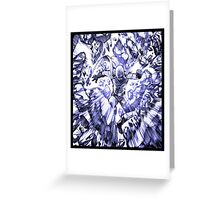 one_man_punch_explosion_blue Greeting Card